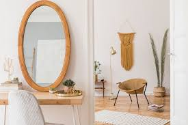 with mirrors to enlarge the space