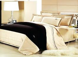 classical cream luxury bedding set queen king size cotton embroidery home hotel comforter cover