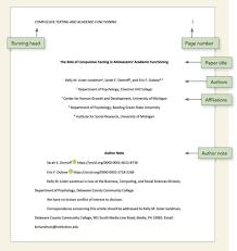 Apa Page Title Page Setup