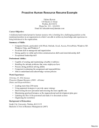 Human Resource Resume Objective Hr Specialist Resume 100 For Human Resources 1009a Objective On 5