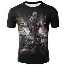 3d Hip Hop Men tshirt Gothic <b>Grim Reaper Finger</b> Short Sleeve ...