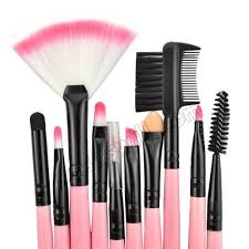 top quality make up for you professional portable beauty makeup brush set with pink bag
