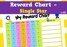 Teacher Reward Chart Reward Chart Single Star Teacher Resources And