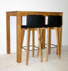 Massivholz Bistro Hoch Tisch 120x80 2 Bar Hocker Wildeiche Geölt