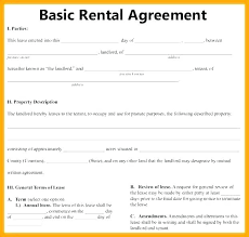 One Page Lease Agreement One Page Agreement Template