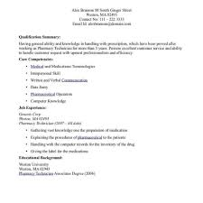 Pharmacy Technician Resume Objective Sample Cute Of With Examples ...
