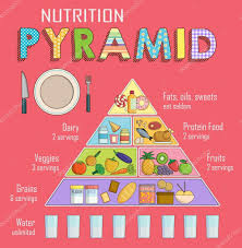 Infographic Chart Of A Healthy Balanced Nutrition Pyramid
