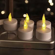 T Lights Rechargeable Led Tea Light T Light Set Of 6