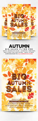 big autumn s flyer template psd by designblend graphicriver big autumn s flyer template psd flyers print templates