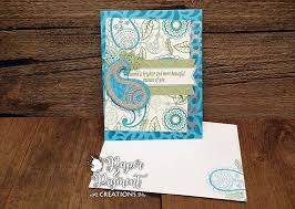 Stampin Up Seasonal Decorative Masks Just Because Card using the Stampin Up Paisleys Posies Stamp 60