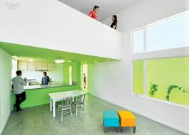 lehrer architects office design. A Sleeping Loft Overhangs The Kitchen And Dining Area In Los Angeles Affordable-housing Prototype By Lehrer Architects. Firm: Architects Office Design