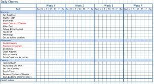 Printable Chore Chart Template Printable Chore Chart Templates Free