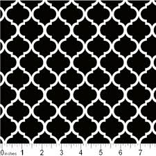Quatrefoil Pattern Unique Cotton Fabric Pattern Fabric Mini Quatrefoil Lattice Pattern