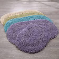 Bathroom Rugs Set 2 Pc Cotton Bath Rug Set With Crochet Trim Bath Rugs Bath