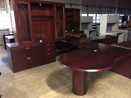 Used Office Desks OFS U Shape Desk With Hutch And Glass Doors At Interesting Ofs Office Furniture Property