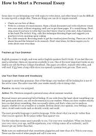 how to write a personal essay step by