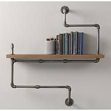 American Country Style DIY Book Shelves Wrought Iron Racks Wood Country Style Shelves