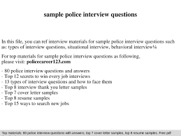 Police Interview Questions And Answers Police Interview Questions And Answers Pdf Top 10 Police