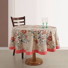 indian décoration cotton fl print 70 inches round tablecloth 4 seater