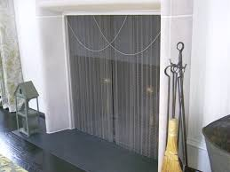fireplace curtain screen on custom fireplace quality electric fireplace curtain