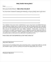 notice of violation template employee violation under fontanacountryinn com