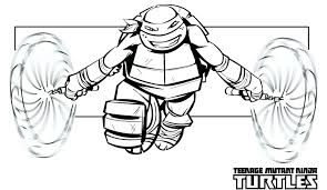 Teenage Mutant Ninja Turtle Coloring Pages Free Printable Ninja