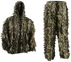 PELLOR Ghillie Suits, 3D Leafy Ghille Suit for Youth ... - Amazon.com