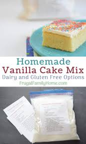 easy homemade vanilla cake mix from scratch this is an easy diy vanilla cake mix