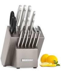 kitchenaid knife set. kitchenaid 16-pc. stainless steel cutlery knife block set w/sharpener sealed new kitchenaid