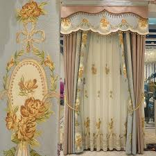 living room curtains with valance. Vintage Multi Color Polyester Embroidery Custom Living Room Curtains (No Valance) With Valance E