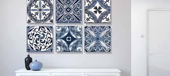 indigo white canvas prints