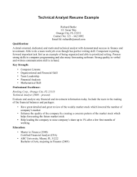 Resume Technical Skills Examples Sales Technical Lewesmr