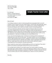 Elementary Education Cover Letter Sample Education Resumes Sample