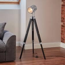 tripod floor lamp nautical spotlight vintage studio wooden light home office new 1 of 12free