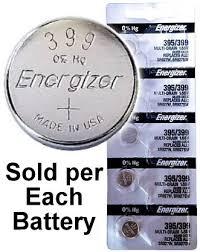 Silver Oxide Battery Chart Energizer 395 399 Sr927w Sr927sw Silver Oxide Watch
