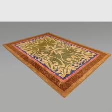 large hand knotted wool rug 1980s 1