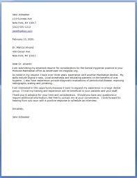 Sample Cover Letters For Dental Assistants Cover Letter Samples