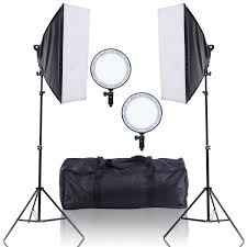 The Lighting Studio Shoptagr Adjustable Bright Led Softbox Continuous Lighting