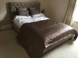 the white company large bedspread taupe brown satin quilted
