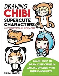 cute anime chibi characters animals. Drawing Chibi Supercute Characters Easy For Beginners Kids Manga Anime Learn How To Draw Cute Chibis In Animal Onesies With Their Kawaii Pets And Animals
