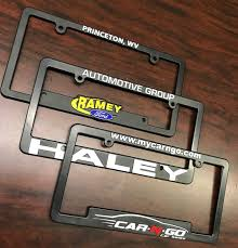 custom license plate frames raised recessed letter 1 color imprint custom license plate frame raise recessed imprint