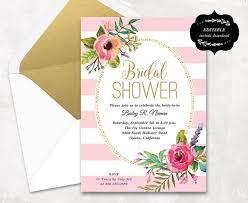 Bridal Shower Invitation Templates Enchanting Blush Pink Floral Bridal Shower Invitation Template Printable Etsy