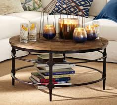 coffee table round reclaimed wood coffee table round table wood and steel and lots of
