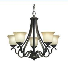 5 light black chandelier industrial with star design in