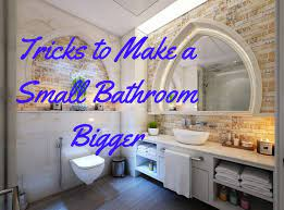tricks how to make a small bathroom