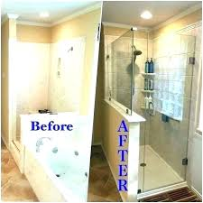 new shower cost custom walk in tile more eye catching design how much does a of