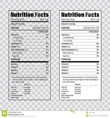 Ingredients Label Template Nutrition Facts Information Label Template Daily Value