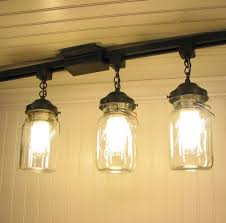 vintage track lighting. Vintage Canning Jar TRACK LIGHTING - Love This For The Kitchen Vintage Track Lighting