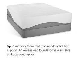 Amerisleep memory foam mattress and foundation