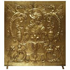 antique brass fireplace screens antique brass fireplace screen from circa 1  antique french fireplace screens
